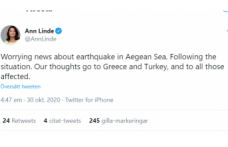 İsveç'ten  İzmir depremi nedeniyle dayanışma mesajı