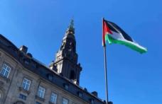 Danimarka'da parlamento binasında Filistin bayrağı dalgalandı