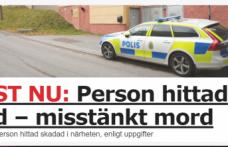 Stockholm'de bir evde bir kişi ölü bulundu