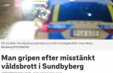 Stockholm'de şiddet bir kişi tutuklandı