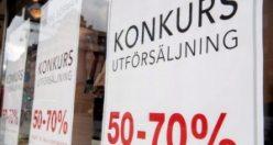 Ocak ayında İsveç'te iflas eden şirket sayısı azaldı