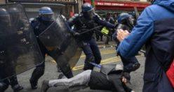 Fransa yine karıştı: İşte gösterilerden çarpıcı görüntüler