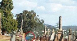 Mezarlıkta tüyler ürperten görüntü