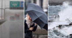 İsveç'te fırtına etkisi: E6 sular altında