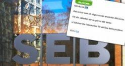 SEB bankasından müşterilerine uyarı