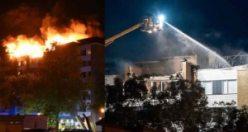 İsveç'te üzücü yangın! Birkaç daire kül oldu