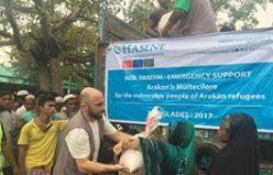 İsveç'ten Arakan Müslümanlarına 600 bin kron değerinde gıda yardımı yapıldı