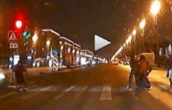 Rusya'da inanılmaz kaza...VİDEO