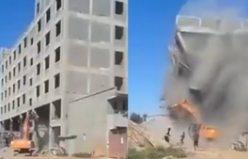Kocaman bina üzerlerine yıkıldı!