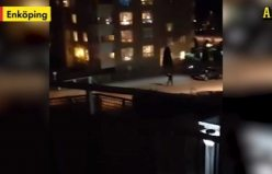 Enköping'de bir kişi polis tarafından vuruldu