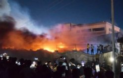 Covid-19 hastanesindeki yangın görüntüleri
