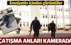 Gaziantep'te çatışma anı kamerada