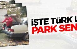 Bu da Türk usulü park etme...VİDEO