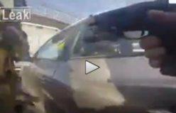 Polis, araba hırsızını anlının ortasından vurdu...VİDEO