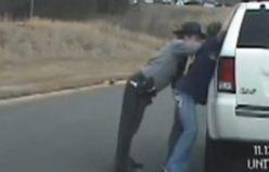 Sarhoş polis kameraya böyle yakalandı!