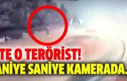 İşte o terörist. Kendini patlatmadan saniyeler önce...