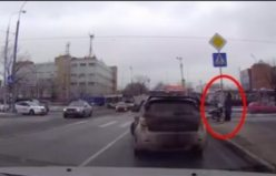 Bir sürücünün trafikteki örnek davranışı