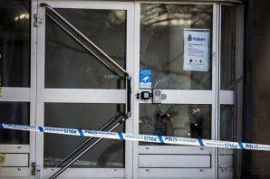 İsveç'te polis karakoluna bombalı saldırının görüntüleri