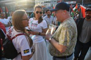 Stockholm'de İsrail katliamları protesto edildi
