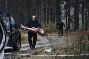 İsveç'te öldürülen kadının ölüm bölgesinden görüntüler