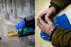 Stockholm'de bir genç evsizlere yemek verdi diye dövüldü