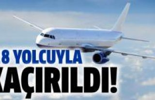 118 yolcusu bulunan uçak kaçırıldı!