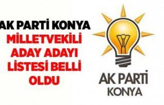 Ak Parti Konya Milletvekili Adayları Belli oldu:...