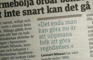İsveçli çiftçiler yağmur dansına çıkacak....