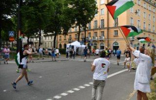 Stockholm Maratonunu Filistin için koştu