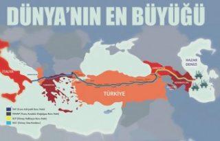 Türkiye üzerinden Avrupa'ya gidecek doğalgaz...