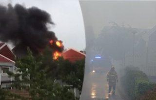 İsveç'te korkutan villa yangını