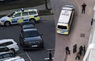 Stockholm'ün merkezinde polis bir kişiyi vurarak...