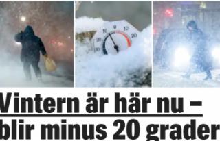 İsveç'e çok sert kış geliyor