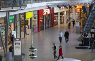 İsveç'te bir çok kapalı alış-veriş merkezi...
