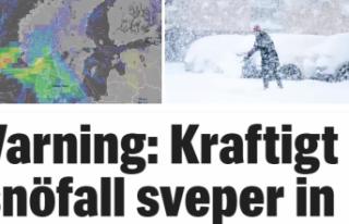 isveç'e yeni bir kar fırtınası geliyor