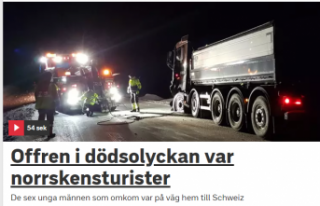 İsveç'te ki trafik kazasında 6 İsviçreli...