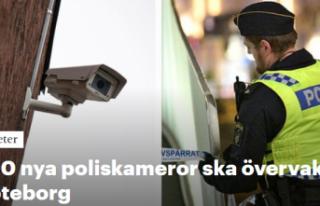 Göteborg sokaklarına 300 polis kamerası yerleştiriliyor