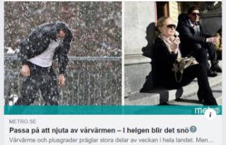 İsveç'te kar ve soğuk hava geri dönüyor