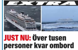 Norveç'te turist gemisi bin 300 yolcuyla denizde...