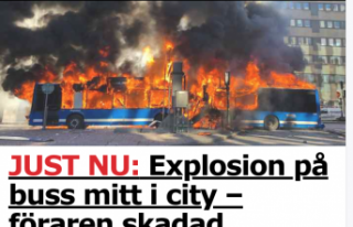 Stockholm'de yanan otobüs terör saldırısı...