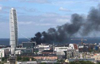 Malmö'de halk otobüsü yandı