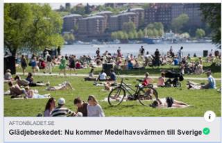 Sevindirici haber: Akdeniz sıcakları İsveç'e...