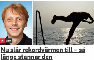 İsveç'te en yüksek hava sıcaklığı 30 dereceyi...