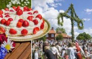 İsveç'te 'Midsommar Günü' çiçekten...