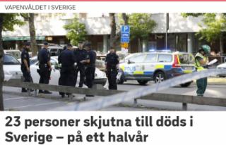 İsveç'te 7 ayda 23 kişi öldürüldü