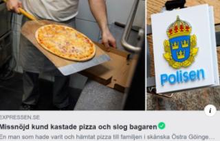 İsveç'te pizzayı beğenmeyen müşteriden...