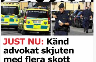İsveç'te ünlü bir avukat vuruldu