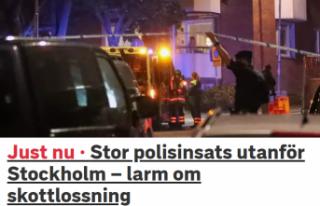 Stockholm'de silahlı çatışma