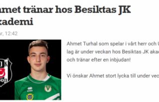 İsveç'teki gurbetçi genç yeteneğe Beşiktaş'tan...