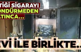 Konya'da yangın bir kişi öldü